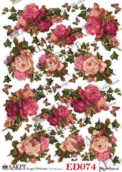 Róże vintage and ivy