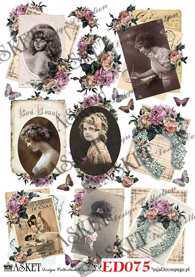 angielskie róże i dziewczynki