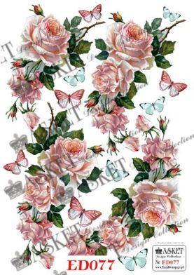 delikatnie różowe roże