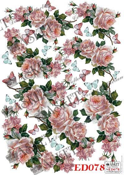 pęki róż w delikatnym kolorze