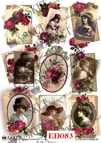 Damy przyozdobione różami