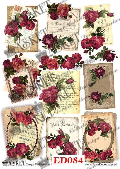 motywy róż z listami