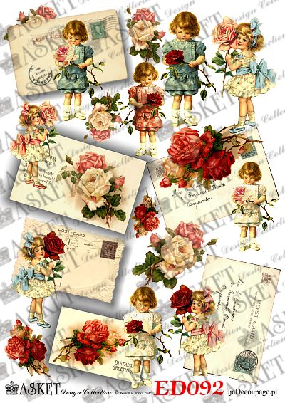 listy z baśniowymi dziećmi