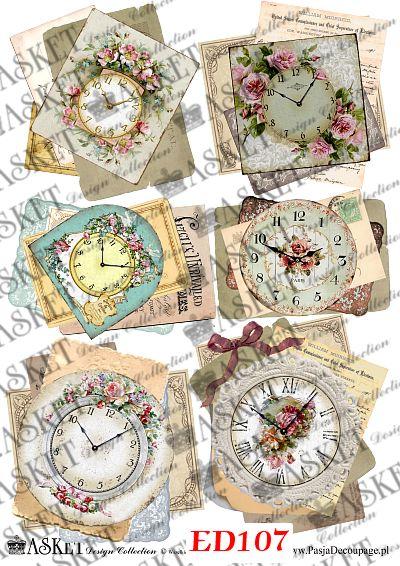 zegary w pastelowych kolorach