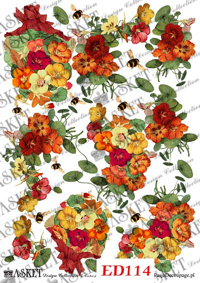 bukiety kolorowych kwiatów