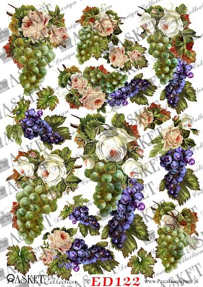 winogron i białe róże