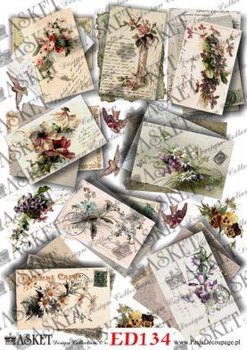 Stare listy z kwiatami
