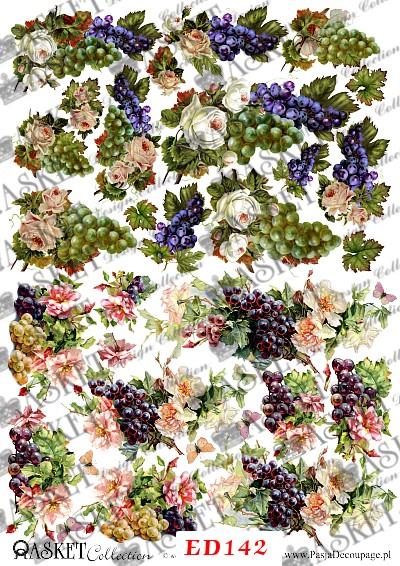 winogrona i róże