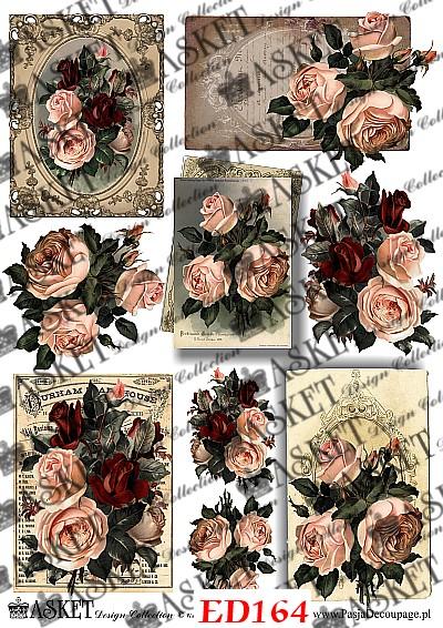 róże na ciemnym tle