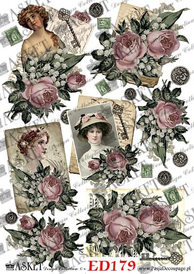 motywy dam z rózami