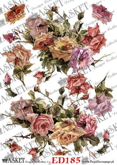 kolorowe bukiety róż