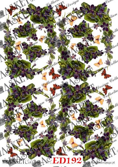 motyw fioletowych kwiatów