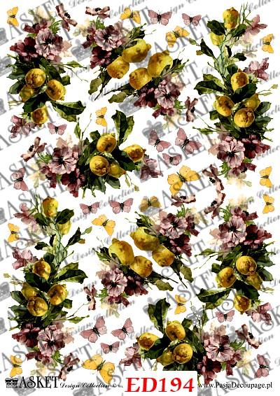 kwiaty z żółta cytryną
