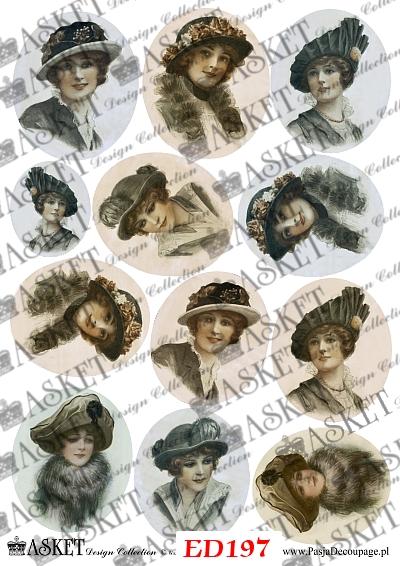 dama w kapeluszach