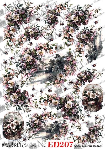 rzeka w kwiatach