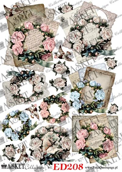 wiosenne wianki z różami