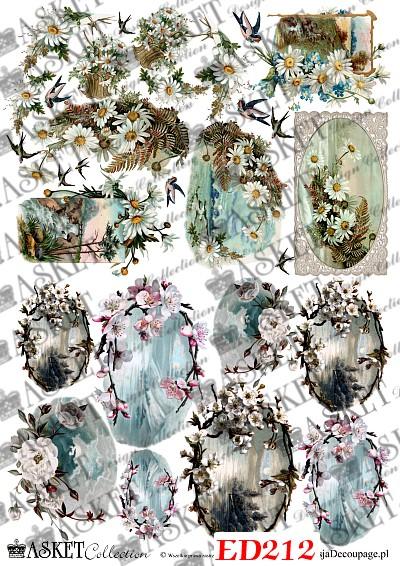 pejzaże z kwiatami