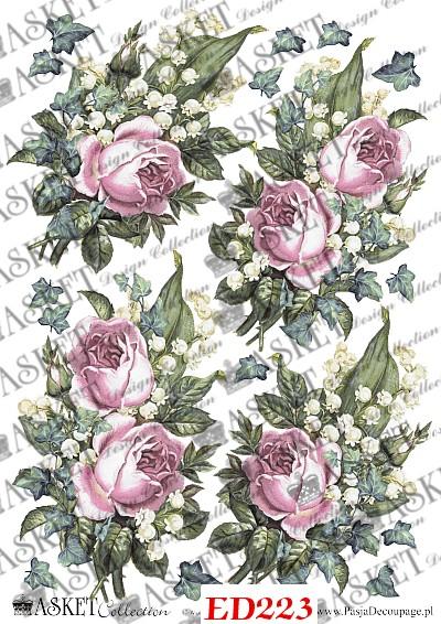 roże w koloże pudrowego rożu