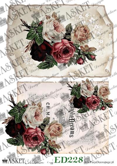bukiety róż z bordo