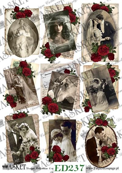 stare fotografie i młode małżeństwo