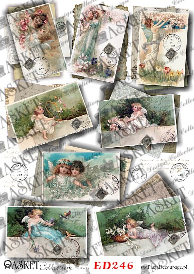 aniołki na kartkach