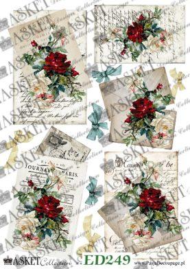 czerwone róże na listach