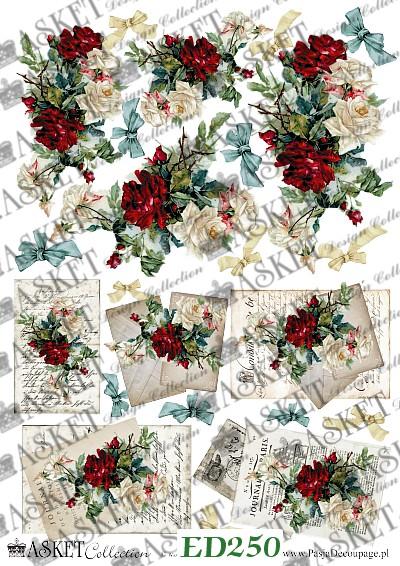 mix małych motywów z różami
