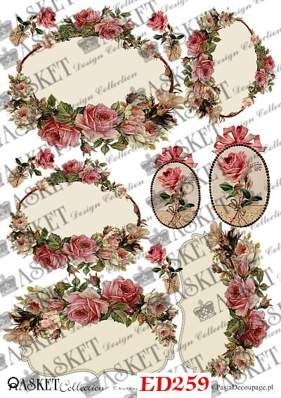 romantyczne motywy z rożami