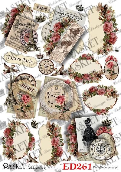 małe różyczki i paryskie elementy