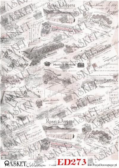 napisy do uzupełniania kompozycji w decoupage