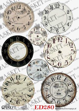 tarcze zegarów do przyklejania
