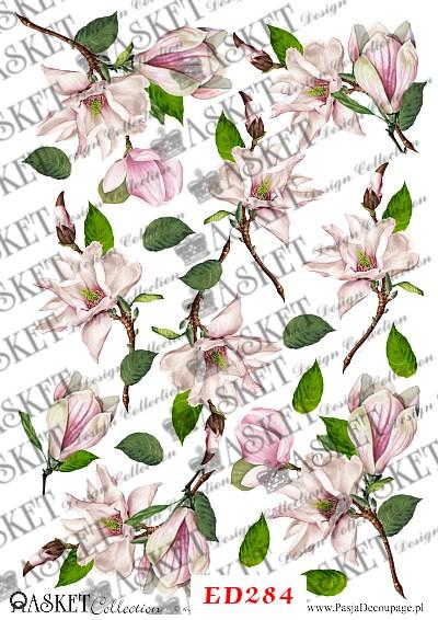 motyw delikatnych kwiatów