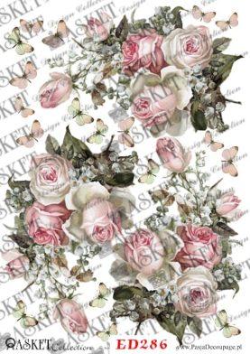 bukiety delikatnych róż