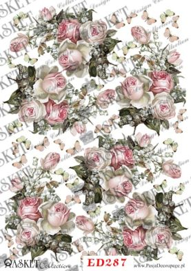 delikatny róż w bukietach