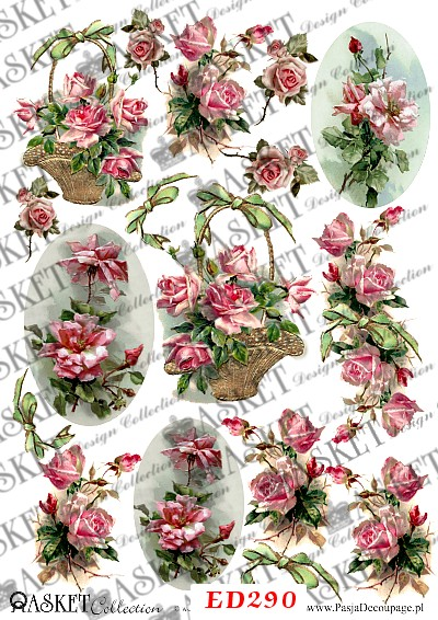 bajkowe róże w koszach