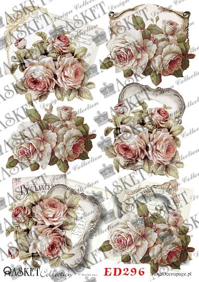 róże w jasnych barwach