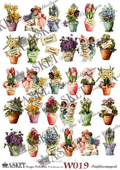 Małe elementy kwiatów w wazonach