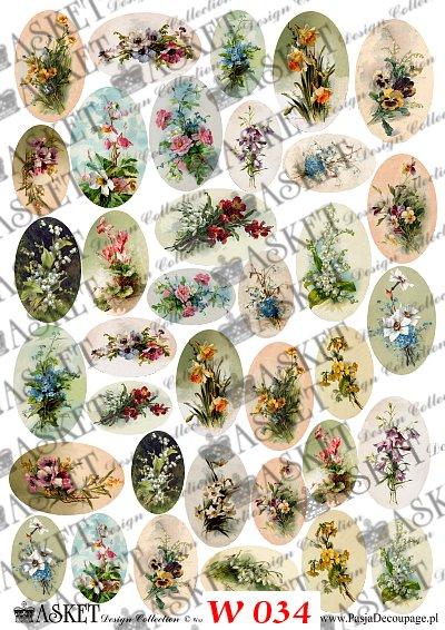 różne kwiatki do dekorowania wydmuszek
