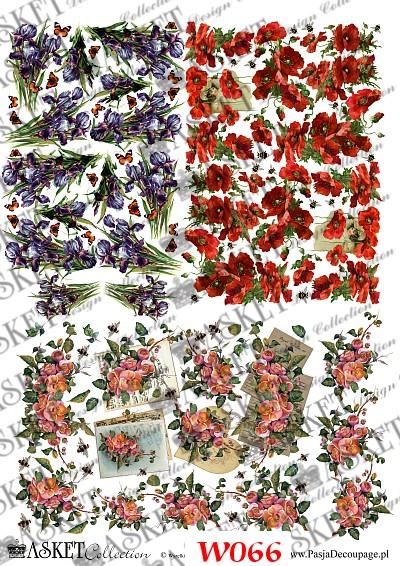 małe grafiki kwiatów do dekorowania jaj