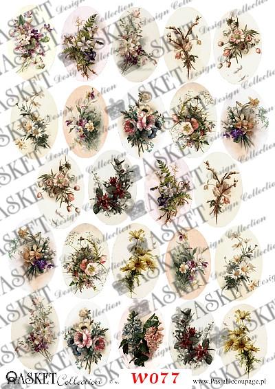 romantyczne kwiaty w delikatnej kolorystyce
