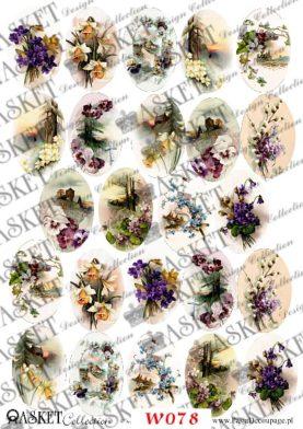 delikatne bukWielkanocne Motywy do Wydmuszekiety kwiatów wiosennych