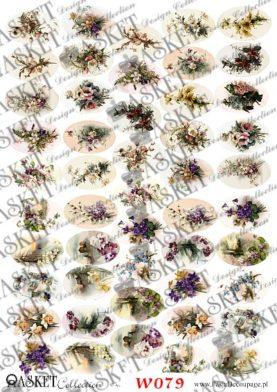 małe motywy delikatnych kwiatków