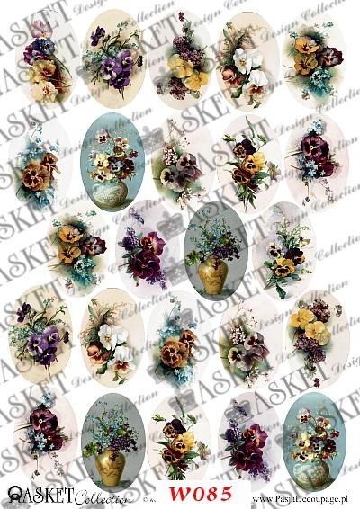 Kwiaty małe motywy w wazonach
