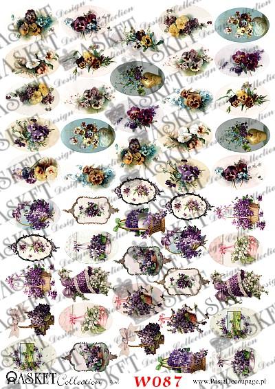 małe grafiki wiosennych kwiatów