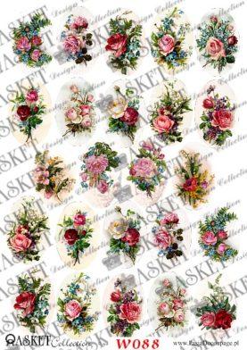 róże w żywych kolorach