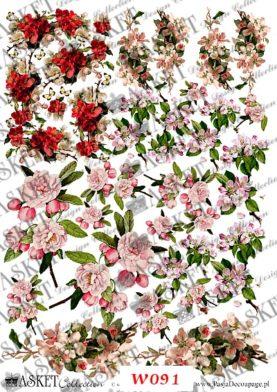 małe motywy kwiatów różne gatunki