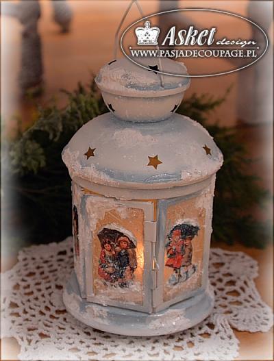 dekoracja ¶wi±teczna wiktoriañska latarenka