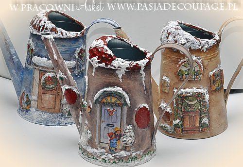 Bo¿e Narodzenie - konewka dekoracja ¶wi±teczna decoupage