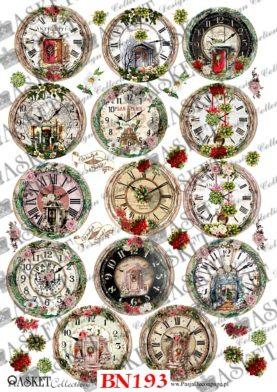 motywy świątecznych zegarów