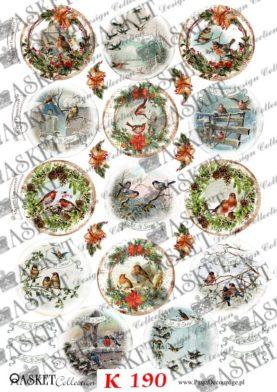 wzory świąteczne bombki -bańki